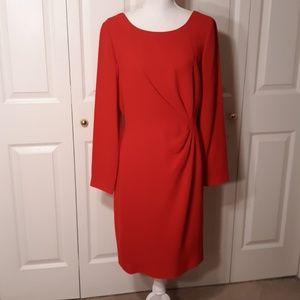Liz Claiborne Red Long Sleeve Dress